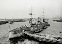 Линейный корабль Гангут на Неве (10 июля 1914 года)